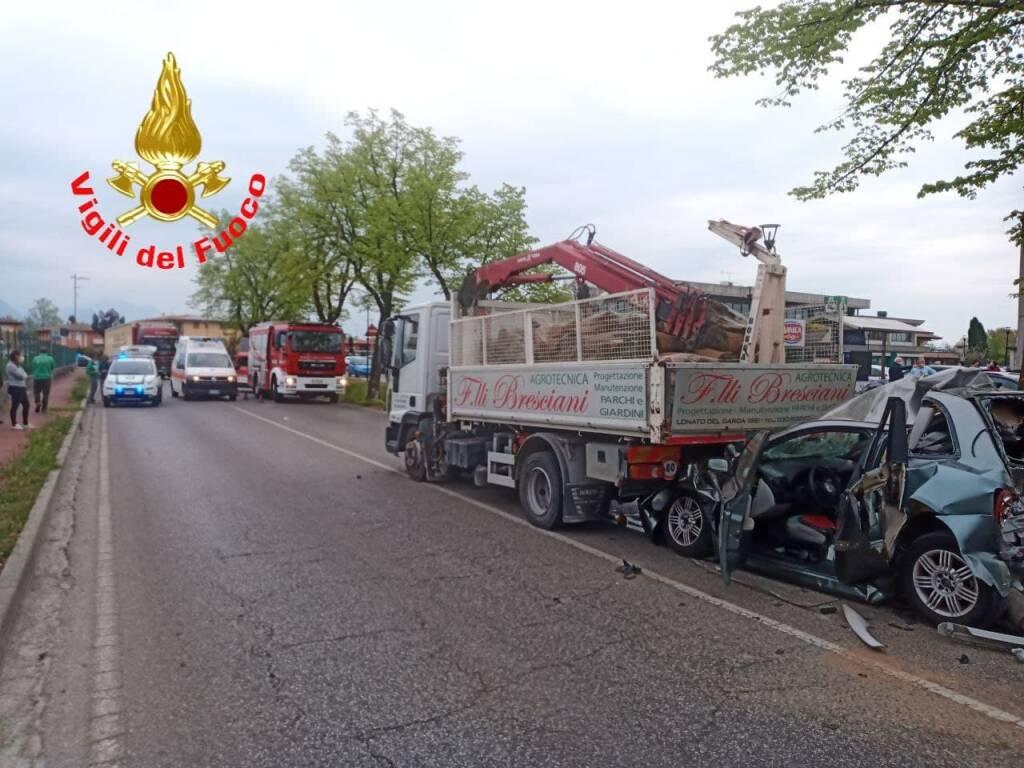 incidente a Manerba