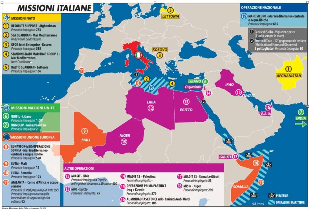 missioni italiane all'estero