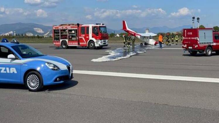 Montichiari incidente aeroporto