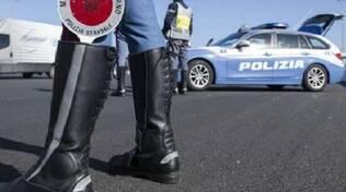 polizia stradale sulla A21