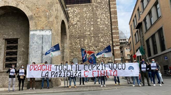 presidio Fratelli d'Italia 24 aprile 2021