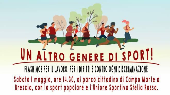 unione sportiva stella rossa flash mob a campo marte
