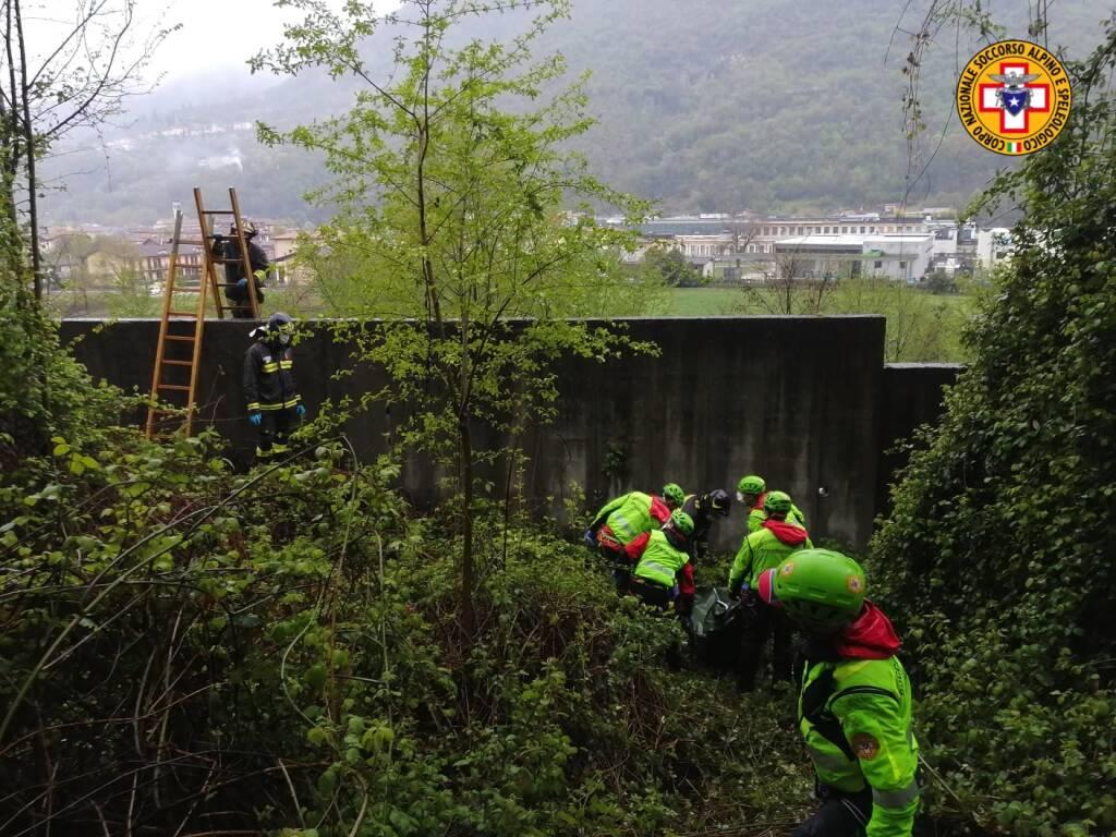 Villanuova sul Clisi, recupero di un corpo senza vita soccorso alpino