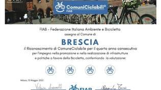 attestato bike smile comune di Brescia