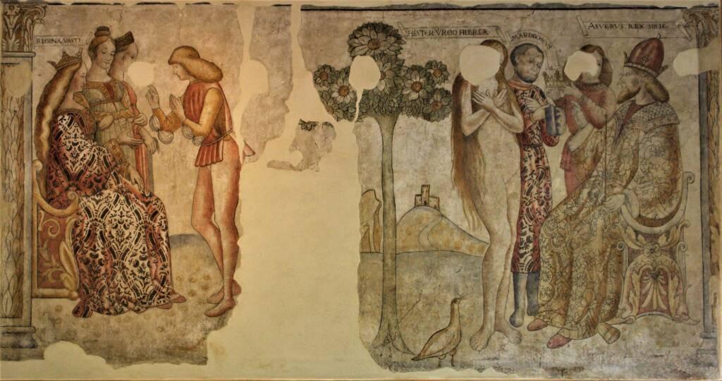 Bienno affreschi sala consiliare