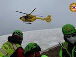 soccorso alpino esercitazione Bazena elicottero