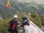 soccorso Vigili del fuoco nucleo speleo alpino fluviale monte Pizzocolo