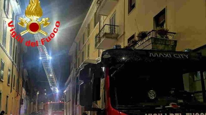 Vigili del fuoco pompieri via San Francesco Brescia