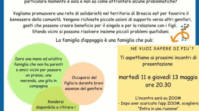 """volantino maggio """"famiglie al centro"""" Brescia Est"""