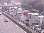 A4 tamponamento tra camion vittima Caos tra Ospitaletto e Bs Ovest