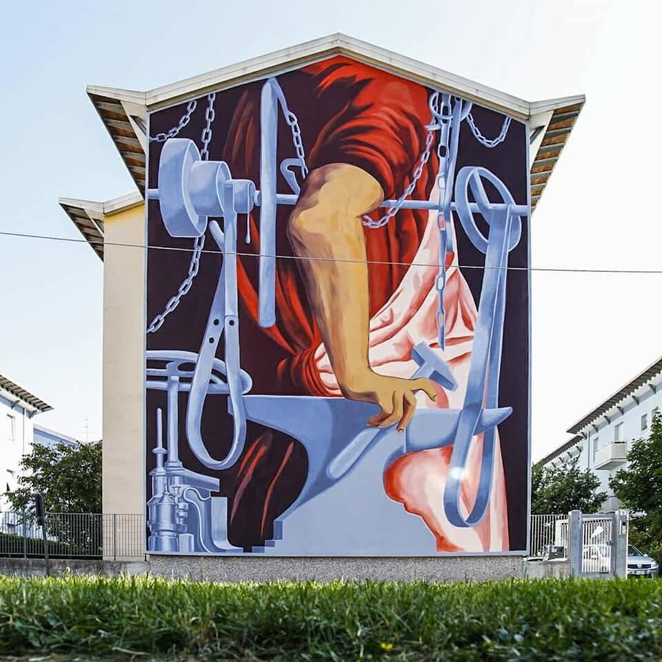 Il maglio murale Luca Zamoc