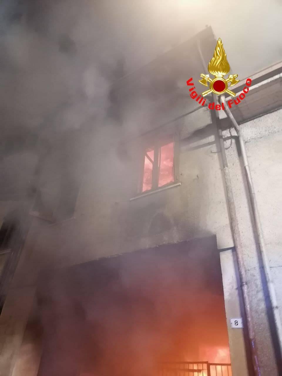 incendio a prevalle 2 giugno