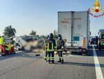 Incidente mortale in A21 a Piacenza sono bresciane 4 delle 5 vittime
