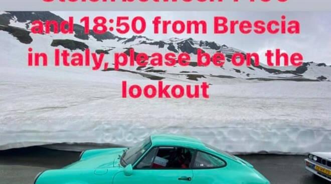 Mille Miglia rubate tre storiche Porsche 911 Indagano i carabinieri