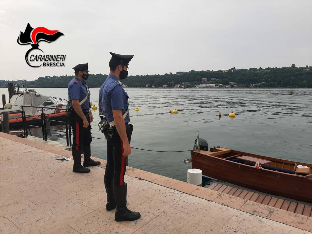 Salò Garzarella Nedrotti tedeschi investitori motoscafo barca natante con cadavere trovato a salò