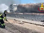 Tamponamento mortale e fuoco in A1uno dei camionisti morti è bresciano