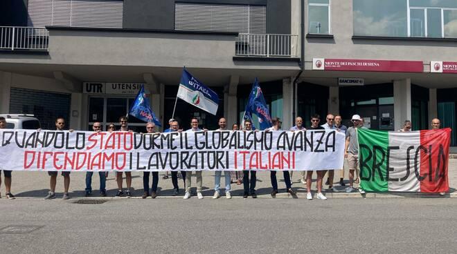 Fratelli d'Italia presidio Villa Carcina per Timken