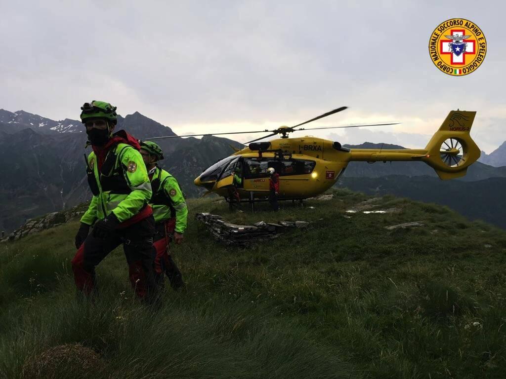 elicottero soccorso alpino Valbondione