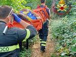 donna soccorsa dai vigili del fuoco in Maddalena