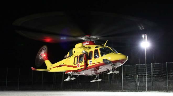 elisoccorso elicottero notte