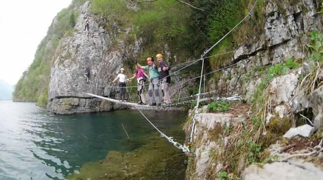 Ferrata Sasse lago Idro