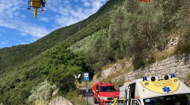 infortunio in via panoramica a Gargnano