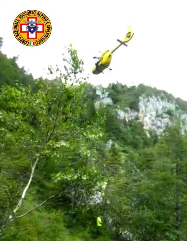 soccorso alpino elicottero Ono San Pietro