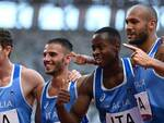 staffetta olimpica Lorenzo Patta, Marcell Jacobs, Fausto Desalu, Filippo Tortu