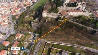 Castello Brescia Progetto Ascensore schema percorso