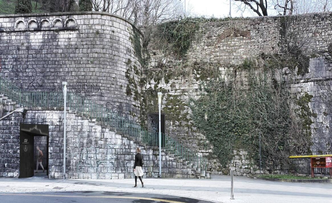 Castello Brescia Progetto Ascensore stazione Fossa Bagni