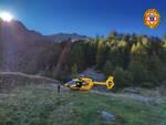 Cnsas Soccorso alpino Somalbosco Ponte di Legno Valcamonica elicottero elisoccorso