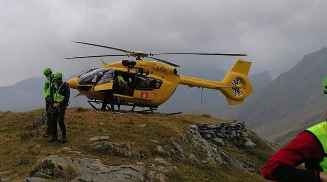 Cnsas Soccorso alpino Valbondione elicottero elisoccorso