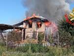 Incendio in cascina di Gussago