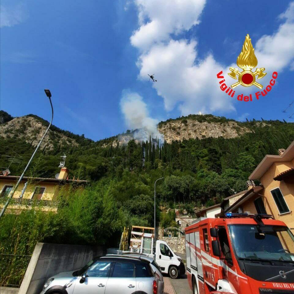 incendio monte Provaglio