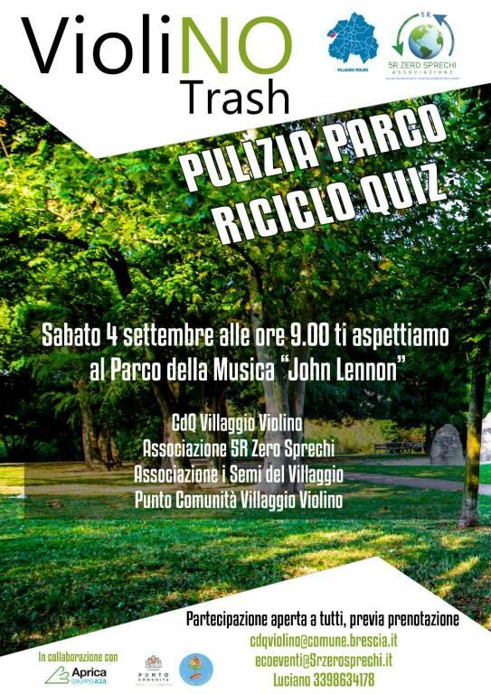 locandina Violino pulizia parco