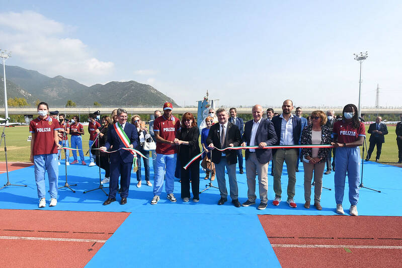 Marcell Jacobs a Sanpolino Brescia nuovo stadio