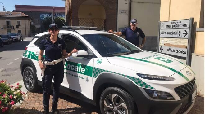 nuova auto della polizia locale di Darfo