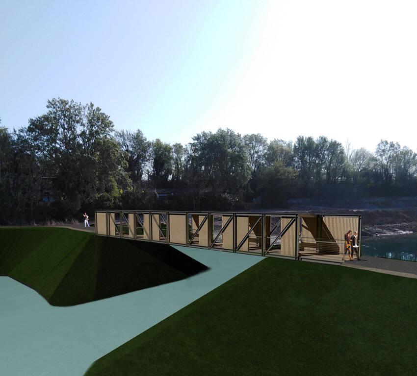 Parco delle Cave ponte lago Gerolotto