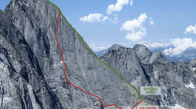 Pizzo Badile montagna via Cassin
