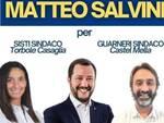 Salvini a Castel Mella e Torbole