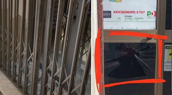 gussago, atti vandalici nelle sedi di Lega e Pd