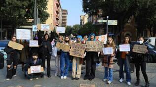 Manifestazione stazione Unione studenti Brescia presidio trasporti 23 ottobre 2021