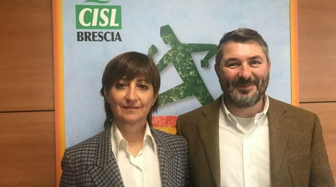 Marco Ghitti con Marina Bordonali Fistel Cisl